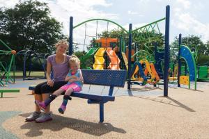bench-hillcrest dream build play experience accessible playgrounds
