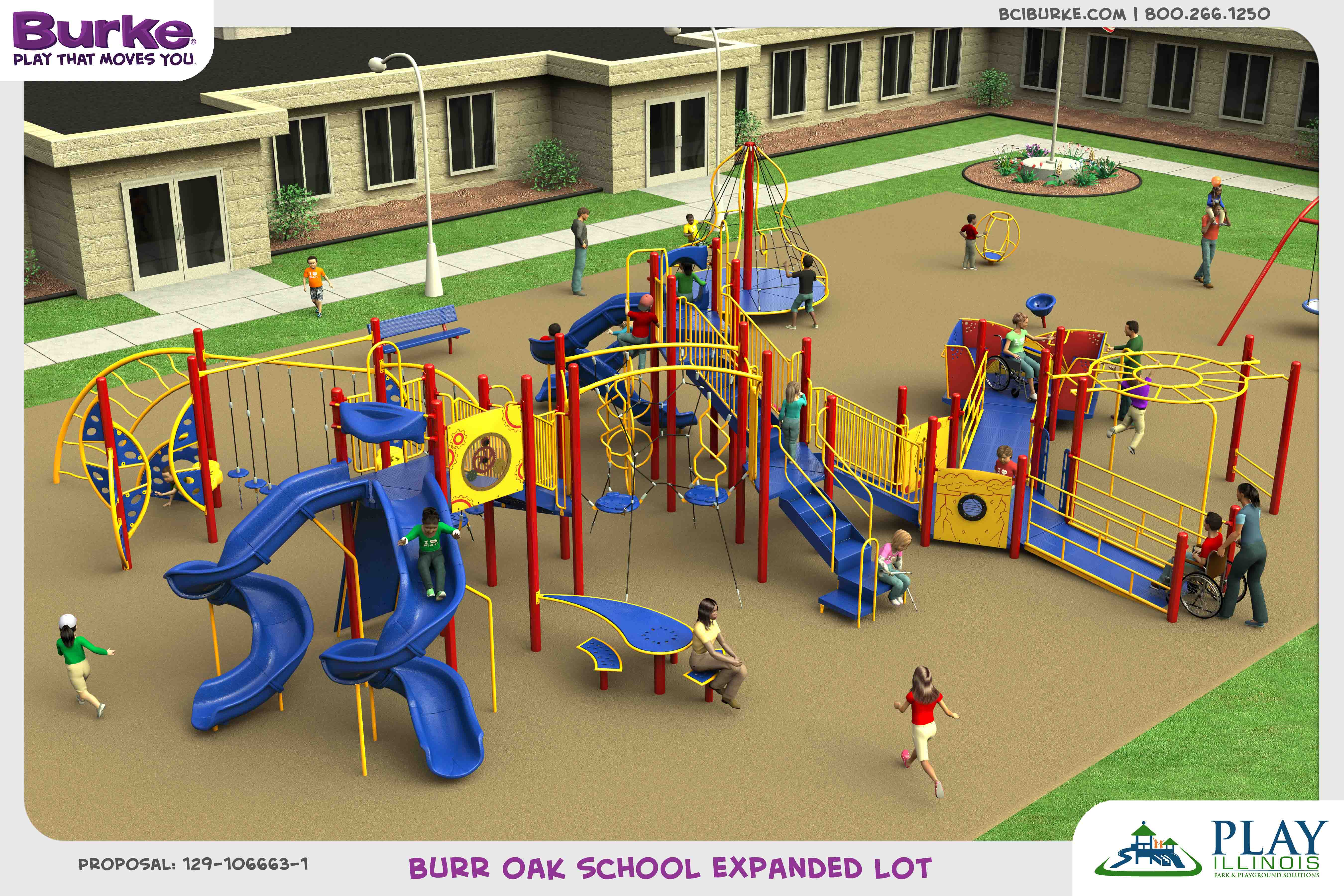 Burroakelementary dream build play experience accessible playgrounds